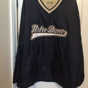 Notre Dame XL Lined Pullover Jacket(Like New)